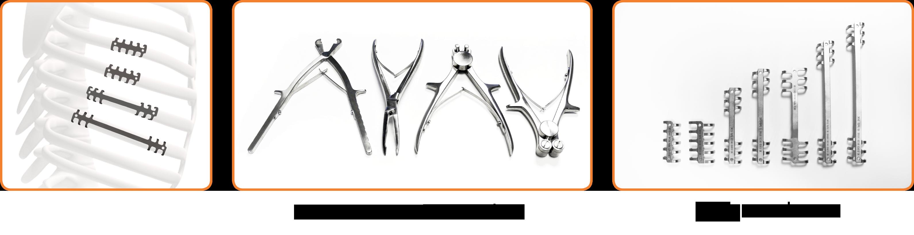 ThoRib® ostéosynthèse thoracique instruments et implants